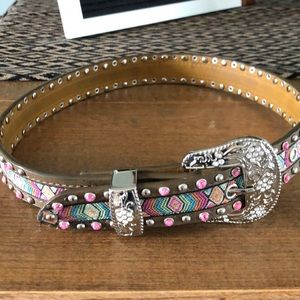Girls genuine leather belt